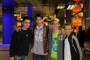 Nico, Georg, Steve (alle 15) und Thanasis (14)